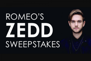 "Premiere Networks – Romeo's Zedd – Win (3) day/two (2) night trip for Winner and one (1) guest (together the ""Attendees"") to see Zedd perform in Las Vegas Nevada on November 10 2018 (the ""Concert"")."
