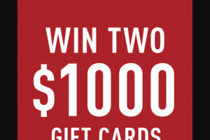 Reebok – Win Gift Card Sweepstakes