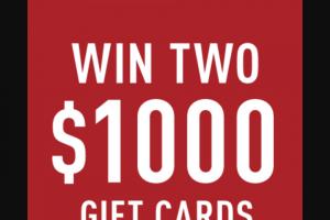 Reebok – Win Gift Card Sweepstakes