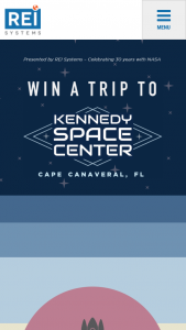Rei Systems – Trip For Two To Kennedy Space Center – Win of a 3-day/2-night trip for the winner and one guest to Kennedy Space Center in Florida