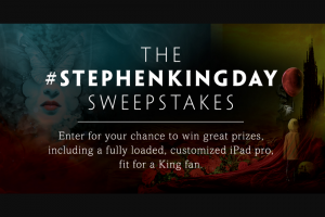 Simon & Schuster – Stephen King Day 2018 Sweepstakes