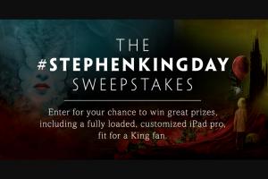 Simon & Schuster – Stephen King Day 2018 Sweepstakes