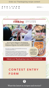 Southern Kitchen – Home Town Cook'n Recipe Contest Sweepstakes