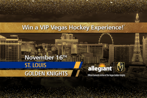Allegiant – Vegas Golden Knights – Win one carry-on bag and a pre-assigned seat at no charge