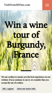 Atout France – Win A Wine Tour Of Burgundy France – Win for two guests Airfare with Air France 3 nights stay in Burgundy a shared wine tour hotel and breakfast included
