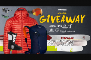 Backcountry – October Giveaway Sweepstakes