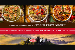 Barilla / Buca Di Beppo – National Pasta Month – Win the opportunity to choose his/her own Northern Italy adventure