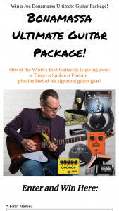 Bonamassa – Ultimate Guitar Package Sweepstakes