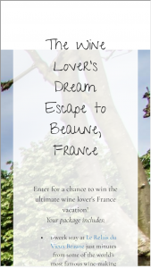 Bright Cellars – Wine Lover's Dream Vacation To France Sweepstakes