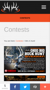Buckmasters – 2018 Ohio Big Buck Hunt Giveaway Sweepstakes