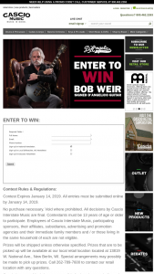 Cascio Interstate Music – Bob Weir Signed D'angelico Guitar Sweepstakes