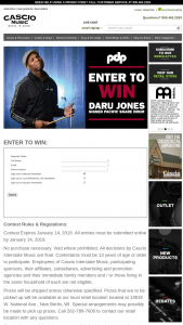 Cascio Interstate Music – Daru Jones Signed Pacific Snare Drum Sweepstakes