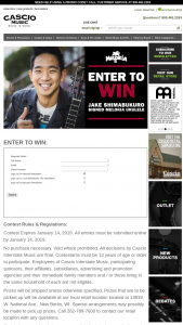 Cascio Interstate Music – Jake Shimabukuro Signed Melokia Ukulele Sweepstakes