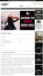 Cascio Interstate Music – Mairead Nesbitt Signed Violin Sweepstakes