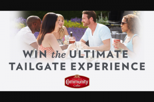 Community Coffee – Tailgate Traditions Instant Win Game And Sweepstakes