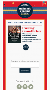 Cost Plus World Market – Hallmark Channel Movie – Win A trip for winner and one (1) guest to Canada