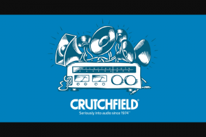 Crutchfield – Great Gear Giveaway October 2018 – Win a Crutchfield Rewards card with a retail value of $350.