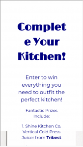 Dojomojo – Complete Your Kitchen Giveaway Sweepstakes