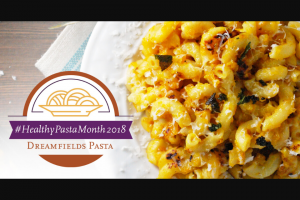 Dreamfields – #healthypastamonth2018 Sweepstakes