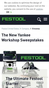 Festool – New Yankee Festool Giveaway Sweepstakes
