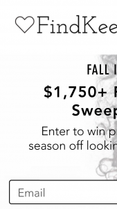 Findkeeplove – $1750 Fall Beauty – Win consisting of all the following ??