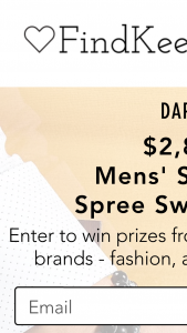 Findkeeplove – Mens' Shopping Spree Sweepstakes