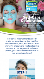 Galderma Cetaphil – Self-Care Celebration Sweepstakes