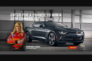 General Motors – Win The 2018 Camaro – Win Camaro 2LT (MSRP $33180) and a $500 Advance Auto Gift Card