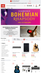 "Guitar Center – Bohemian Rhapsody – Win for two (the Winner and one eligible Guest) to New York City for a private VIP screening of the movie ""Bohemian Rhapsody"" on October 30 2018."