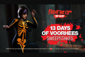Gun Media – 13 Days Of Voorhees Sweepstakes