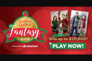 Hallmark Channel – Christmas Fantasy Game – Win $20000 cash awarded in the form of a check payable to the Grand Prize Winner