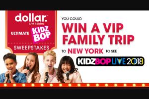 Hertz – Dollar Kidz Bop Experience Sweeptakes Sweepstakes