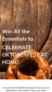 Hopsy – Celebrate Oktoberfest At Home Sweepstakes