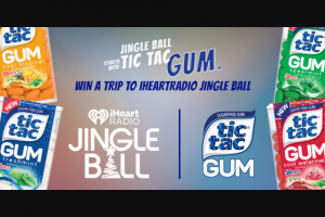 "Iheart Media – Iheartradio Jingle Ball Fun With Tic Tac Gum – Win (""ARV"") $4999 Prize Package will include the following  A trip for four (4) to New York City from December 7 2018 to December 9 2018 to attend Z100's Jingle Ball on Friday December 7 2018."