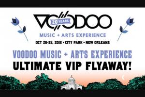 Iheart – Voodoo Music  Arts Experience Ultimate Vip Flyaway Sweepstakes