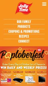 Jolly Time Pop Corn – Poptoberfest – Win Winner's will receive four (4)
