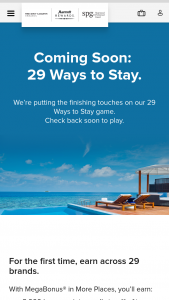 Marriott – 29 Ways To Stay – Win twenty-nine 2-night stays one at each of the 29 Marriott Brands for winner and one guest