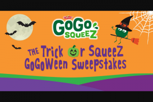 Materne North America – Gogo Squeez Gogoween – Win one (1) case of GoGo squeeZ® applesauce (48 pouches).