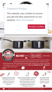 Meyer – Farberware Neat Nest For The Holidays Sweepstakes