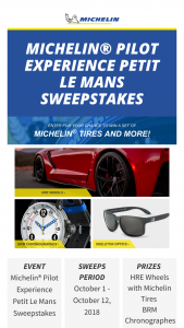 Michelin – Pilot Experience Petit Le Mans Sweepstakes