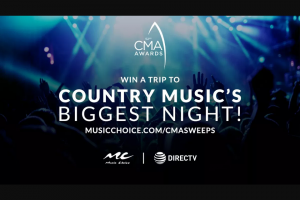 "Music Choice – Directv Cma Awards Vip – Win a trip for two (2) to be used by the Grand Prize Winner and his/her one (1) guest (the ""Guest"") to Nashville"