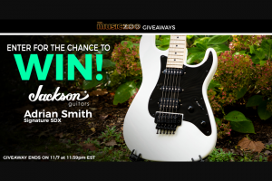 Music Zoo – Jackson Guitars Adrian Smith Sdx Giveaway – Win Jackson Guitars Adrian Smith SDX