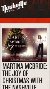 Nashville's Convention & Visitors Corp – Martina Mcbride The Joy Of Christmas Giveaway Sweepstakes