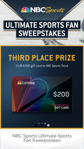 "NBC Sports – Ultimate Sports Fan – Win Winner (""Grand Prize"")."