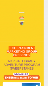 Next Level – Nick Jr's Library Adventure Program Sweepstakes