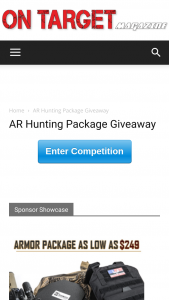 On Target Magazine – Ar Hunting Package Giveaway – Win (1) Aero Precision M4E1 Complete Rifle