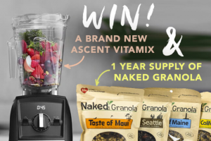 One Country – Naked Granola Giveaway – Win a year's supply of Naked Granola (equivalent to one case per month) and a Vitamix Mixer