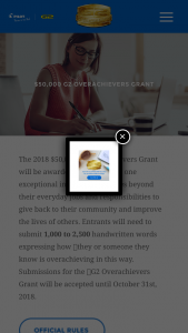 Pilot Corporation – 2018 G2 Overachievers Grant Contest – Win a G2 Overachiever Kit (ARV $100).