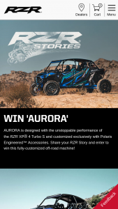 Polaris Industries – 2018 Polaris Rzr Stories – Win which is a Polaris engineered RZR XP 4 Turbo S (ARV $47500).