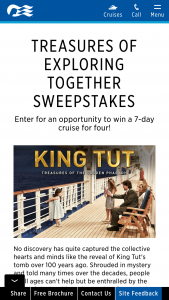 Princess Cruises – Treasures Of Exploring Together – Win one (1) Princess Cruises gift card in the amount of $4686 USD/ $6128.47 CAD and one (1) Gilded Bastet statue